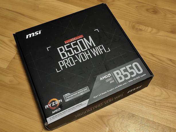 Материнська плата MSI B550M PRO-VDH WIFI (sAM4, AMD B550)