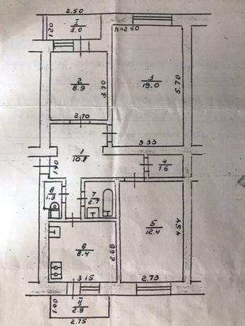 Продам 3-кімнатну квартиру м.Стрий вул.Красівського 28