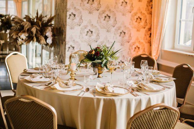 Obrusy okrągłe, obrusy prostokątne, wypożyczalnia obrusów na wesele
