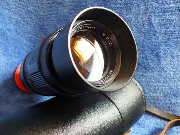 Obiektyw / Teleobiektyw Jupiter 21M 4/200 + pokrowiec tuba Stan Idealn