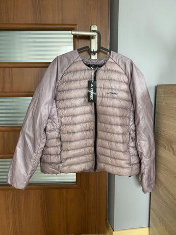 nowa kurtka pikowana puchowa Adidas Terrex lilowa róż wiosenna lekka L