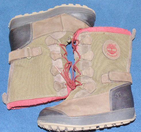 Детские зимнии сапожки ботинки timberland 29 размера стелька 19см
