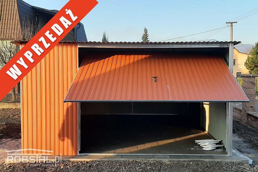 Garaż blaszany 4x5m z bramą uchylną, blacha w kolorze, MONTAŻ GRATIS Inowrocław - image 1