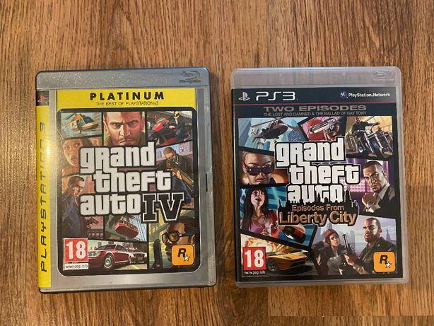 GTA 4 + GTA 4 Episodes from Liberty City - PS3 PlayStation 3 gra