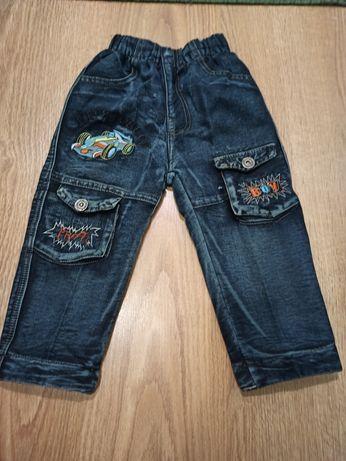 Детские джинсы на флисе