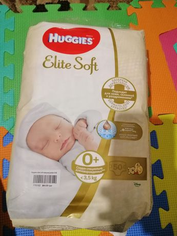 Памперсы huggies elite soft
