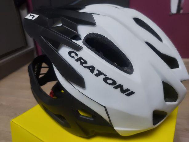 Kask rowerowy Cratoni C- Maniac ze szczęką S-M (52-56) jak nowy, super