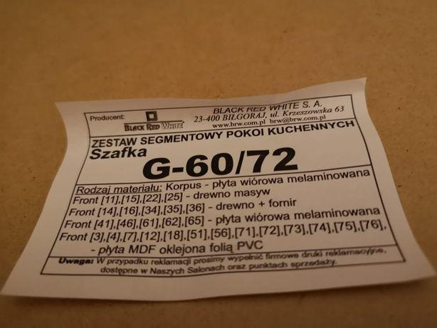 Meble kuchenne Black Red White G60/72