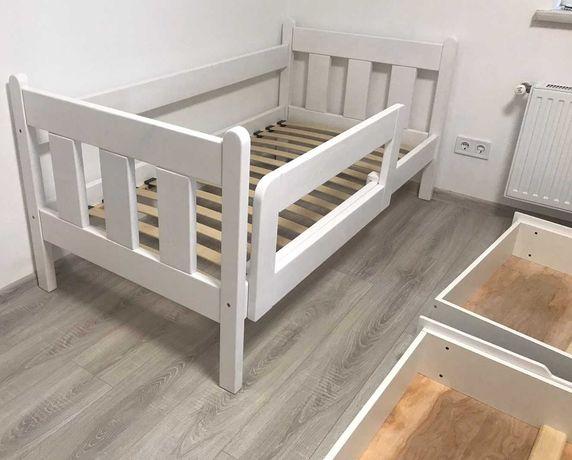 Детская кровать с бортиком и выдвижными ящиками кровать для детей