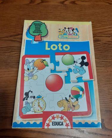 Jogo de madeira - educa - Loto - Disney Babies - formas e cores