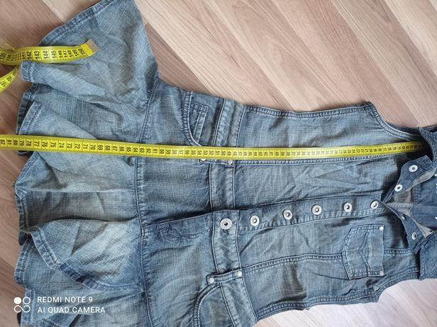 Фирменный джинсовый сарафан