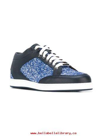 Jimmy choo women's blue miami mid-top glitter оригинал кроссовки