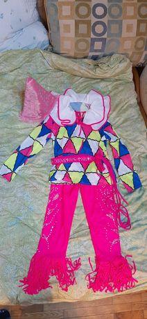 Карнавальный костюм Арлекино, Шут,Клоун от 6-8 лет.