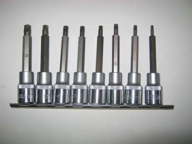 Klucze wpustowe Torx 8el T20-T50 Cr-V S2 CORONA C6923