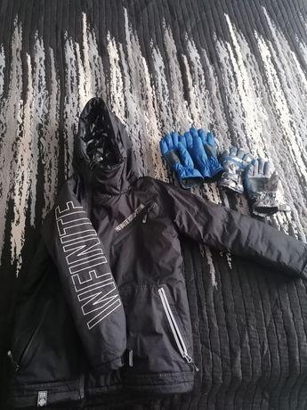 Kurtka zimowa Reserved 140 dwie pary rękawiczek