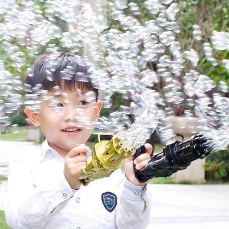 Детский пистолет для пузырей, летняя машина для мыльных пузырей