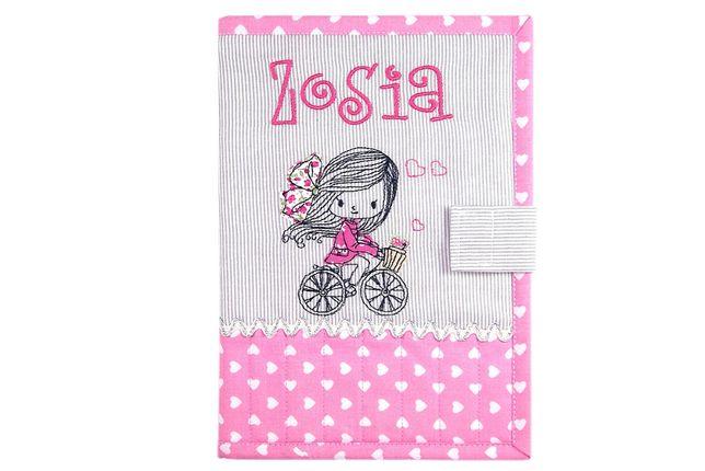 Okładka imienna, etui na książeczkę zdrowia dziecka - Zosia