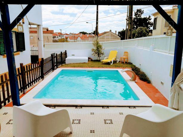 Vivenda férias, piscina privada, perto praia, CH. Caparica