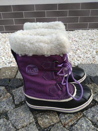 Śniegowce Sorel Yoot r.32 dla dziewczynki