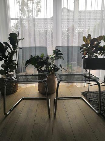2 krzesła przydymione Ikea TOBIAS