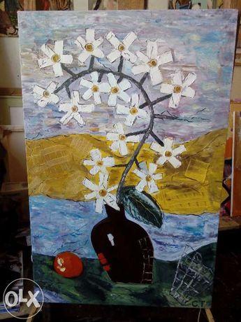 Продаются картины маслом фантазийные цветы (Киев)