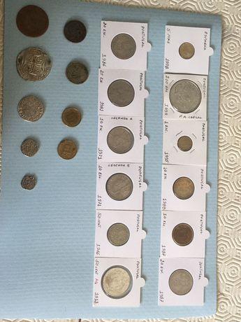 Várias moedas antigas