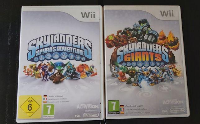 Skylanders giants e spyros adventures para Wii