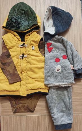 Пакет вещей жилетка, бодик carter's, костюм, шапка