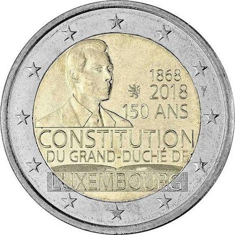 Rolos moedas 2€ comemorativas Luxemburgo 2017 e 2018