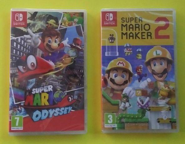 Jogos - Mario Odyssey e Super Mario Maker 2 - Nintendo Switch