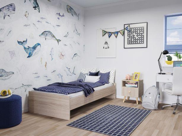 Łóżko młodzieżowe pojedyncze KARO + materac 190x90