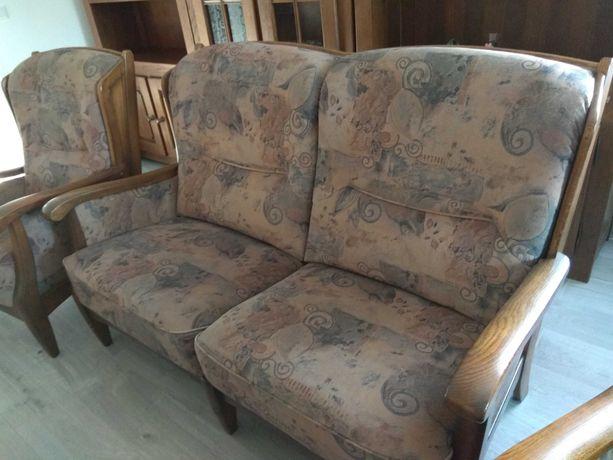 Kanapa i 1 fotel komplet bardzo wygodne