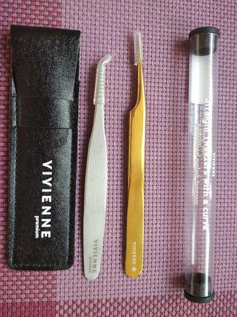 Пинцеты для наращивания ресниц Вивьен, материалы для наращивания