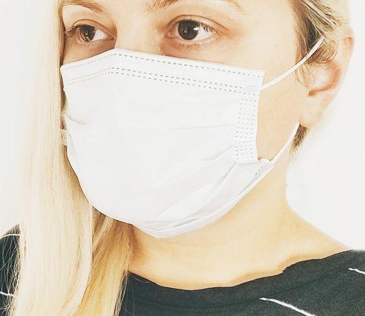 maseczka maska ochronna 3 warstwowa 50 sztuk z filtrem drucik