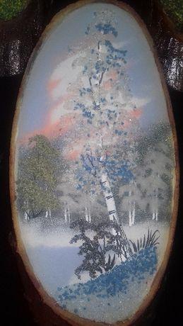 Панно картина на стену каменная крошка до 30 см. длинна