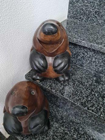 Estátua de madeira, toupeira