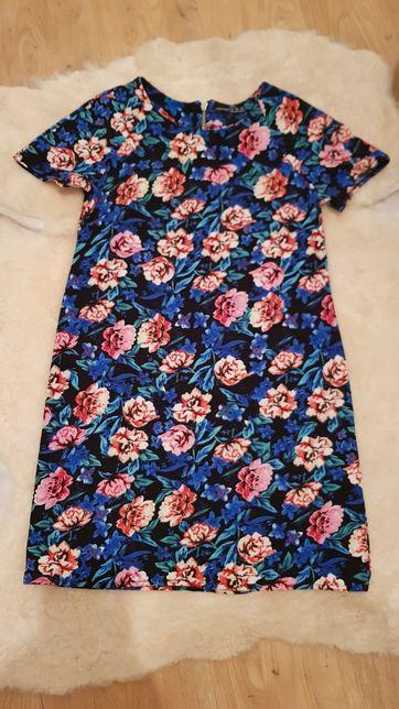 Sukienka w kwiaty niebieska  S