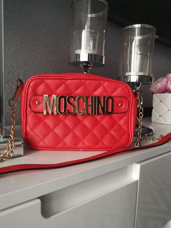 Love Moschino. Czerwona pikowana torebka.