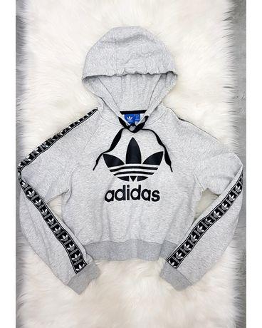 Bluza oryginalna top crop top Adidas logo S 36