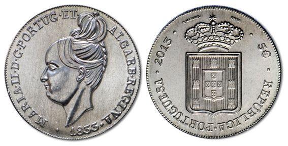 Moeda  5€ A Degolada de D. Maria