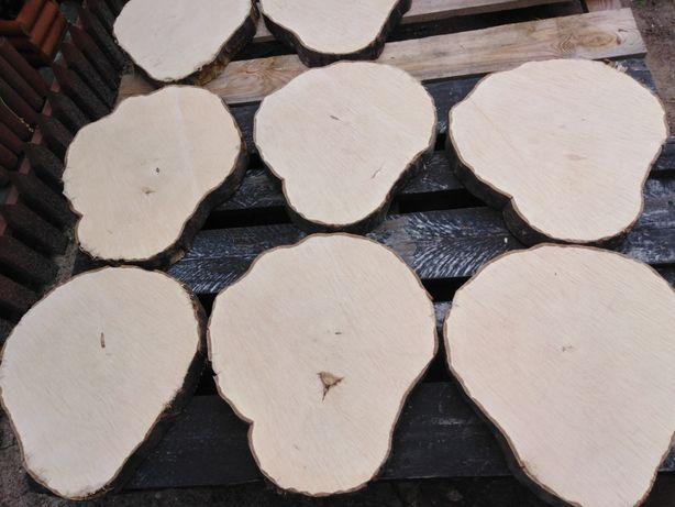 Plastry drewna grab średnica 40-38 grubość 5,5 cm