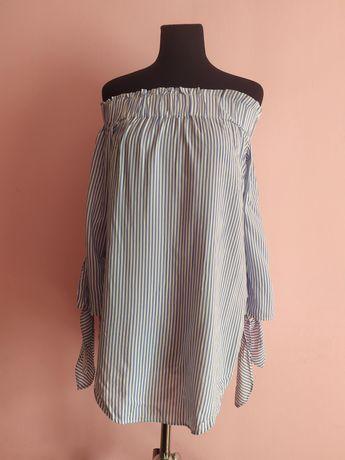 Блуза в полоску hm xs-s