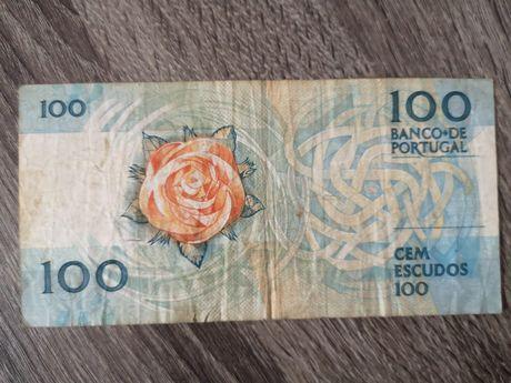 Nota de 100 escudos 1988 - Fernando Pessoa
