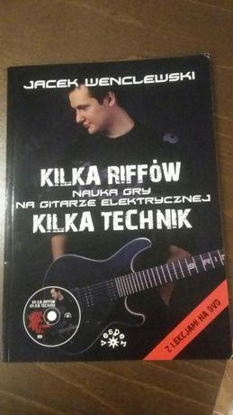 Książka. Kilka riffow. Nauka gry na gitarze. Jacek Wenclewski