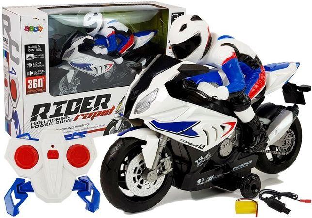 Motocykl zdalnie sterowany R/C 2.4G Biały 6938