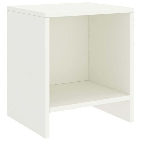 vidaXL Mesa de cabeceira 35x30x40 cm madeira de pinho maciça branco 322234