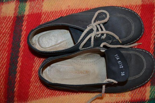 Итальянские туфли синие размер -38 длинна стельки 23.8 цена 400