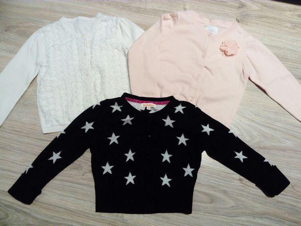 Sweterki dziewczęce rozmiar 104-110