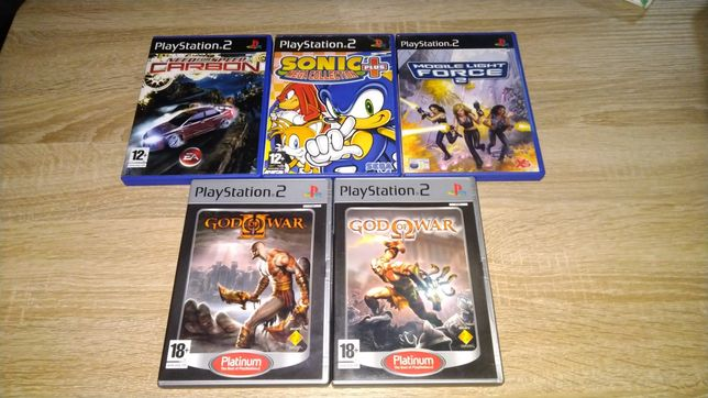 Jogos Playstation 2. God of War , Sonic...