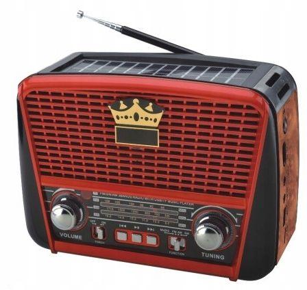 RADIO RETRO na SOLAR MP3 USB SD przenośne akumul